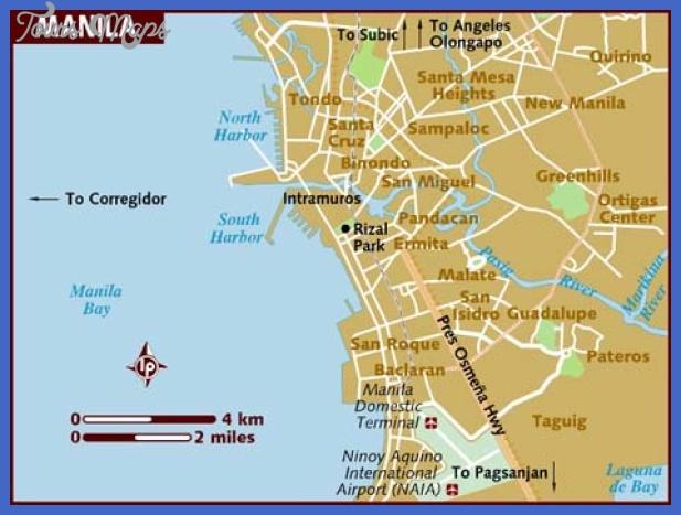 map of manila Manila Map