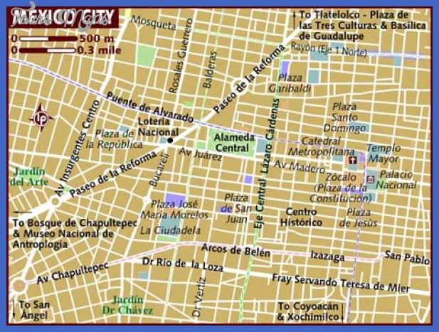 map of mexico city Mexico City Map