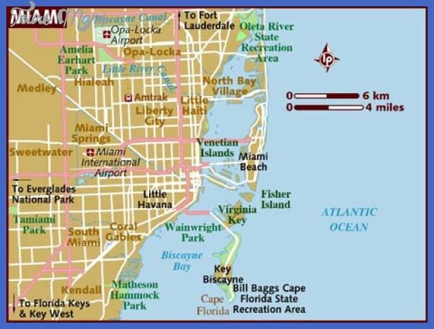 miami map tourist attractions - toursmaps