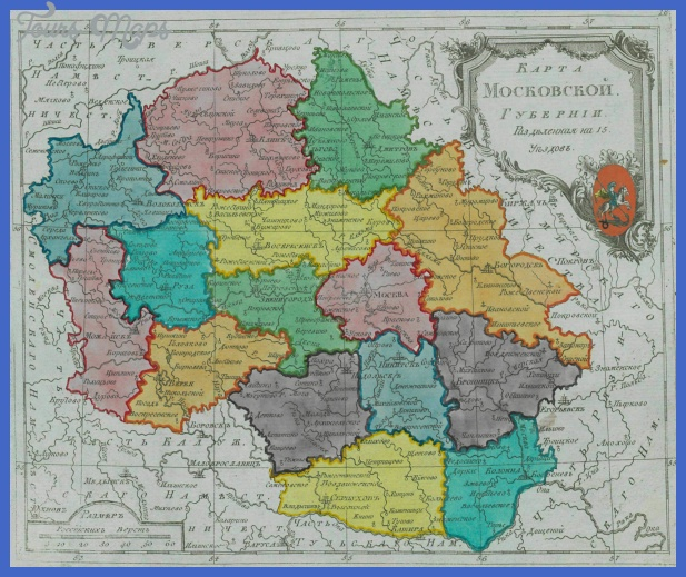 map of moscow governorate 1792 28small atlas29 Moscow Map