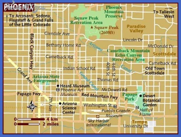 map of phoenix Phoenix Map