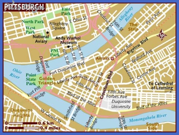 Pittsburgh Map Map Travel Holiday Vacations - Us map pittsburgh