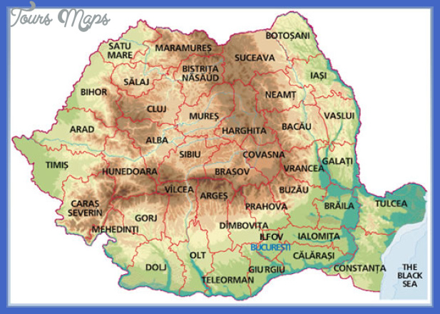 map of romania5 Romania Map Tourist Attractions
