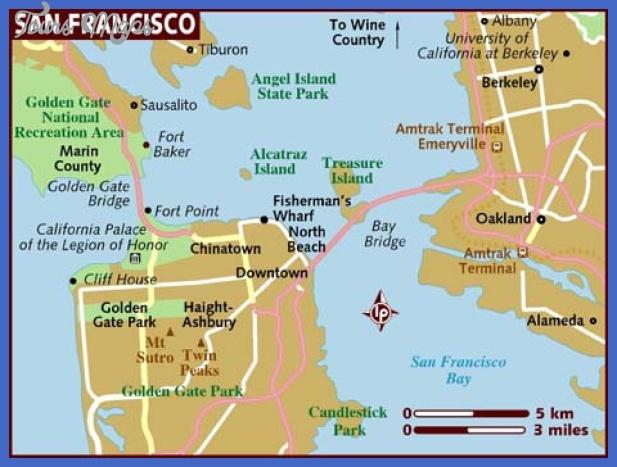 map of san francisco San Francisco Oakland Map