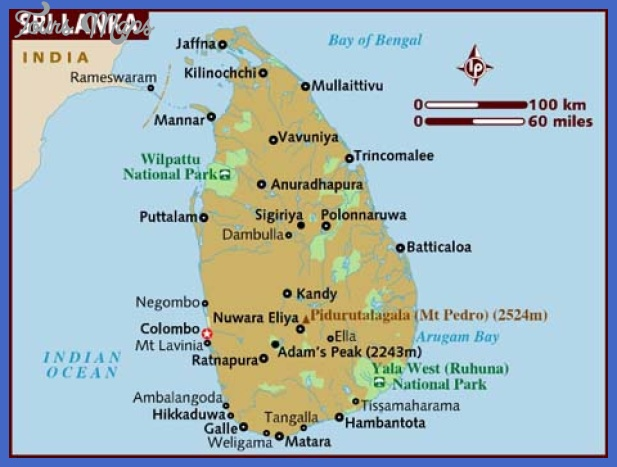 map of sri lanka Sri Lanka Map