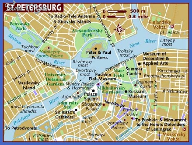 map of st petersburg Russia Map Tourist Attractions