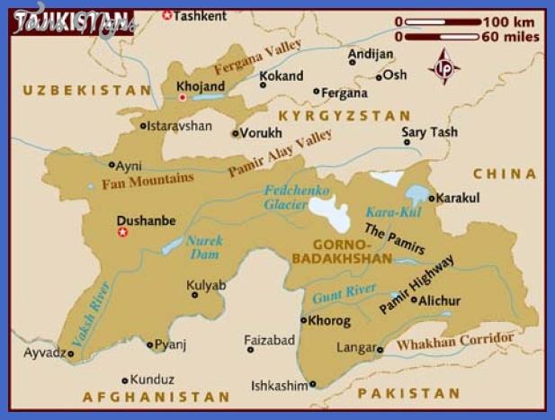 map of tajikistan Tajikistan Map