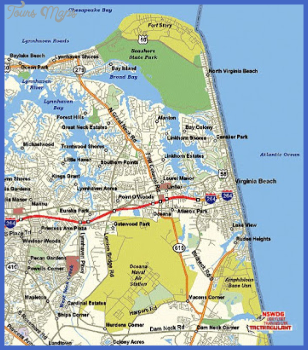 Free Printable Maps: Virginia Beach Map