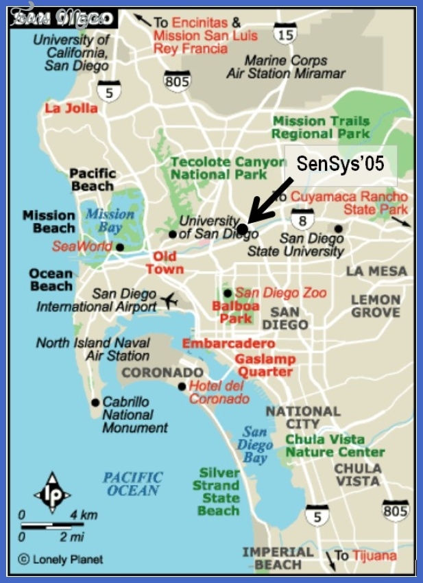 San Diego Map Tourist Attractions ToursMapsCom – Tourist Attractions Map San Diego