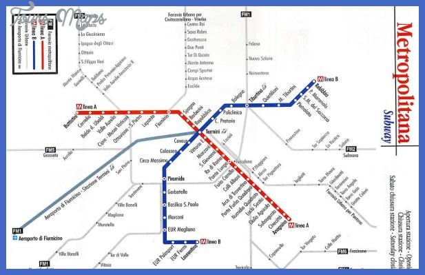 map subway 1 Rome Subway Map