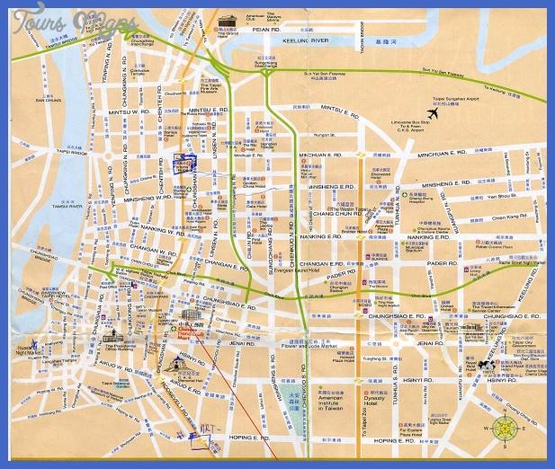 map taipei Taipei Map Tourist Attractions