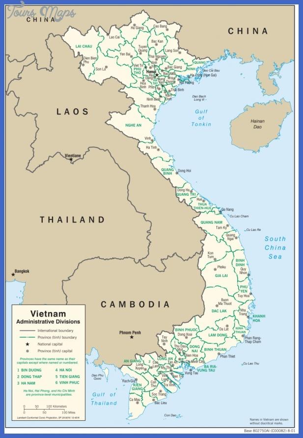 mapa administracyjna wietnamu Vietnam Map