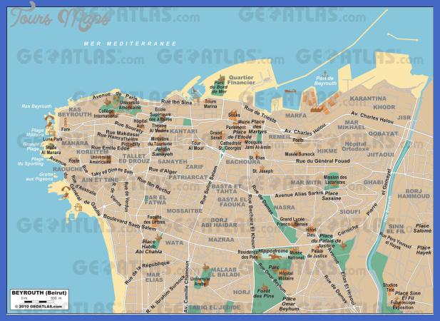 mapa beirute Beirut Map