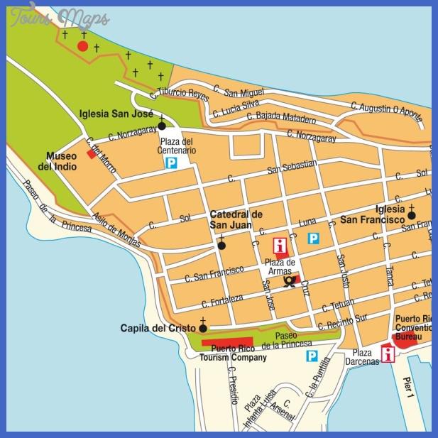 mapa centro san juan porto rico San Juan Metro Map