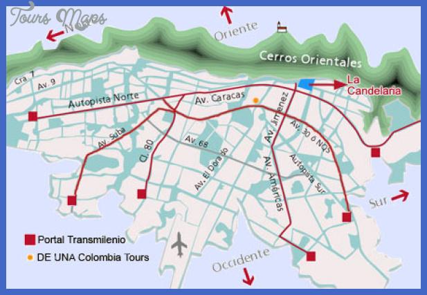 mapa de bogota Bogota Metro Map