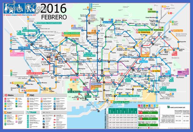 mapa metro barcelona accesibilidad 2016 02 Barcelona Subway Map