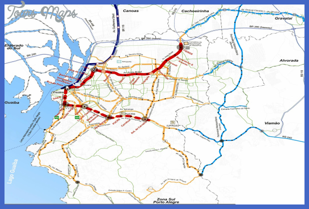 mapa metro porto alegre 1 Porto Alegre Subway Map