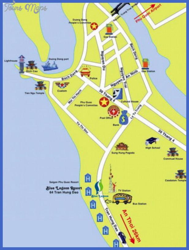 mapa duong dong phu quoc vietnam Vietnam Map Tourist Attractions