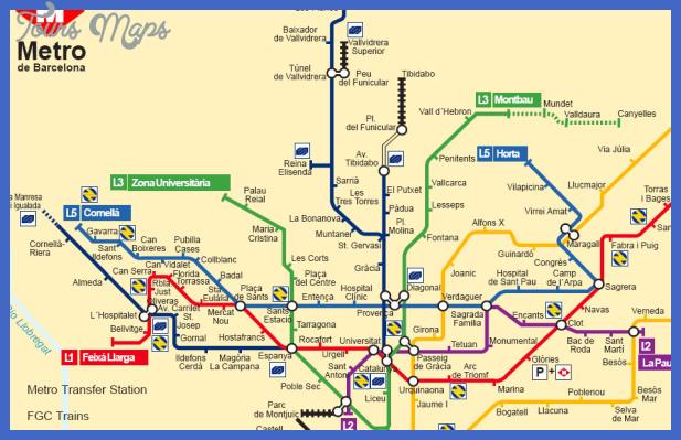 mapmetrobarcelona Spain Metro Map