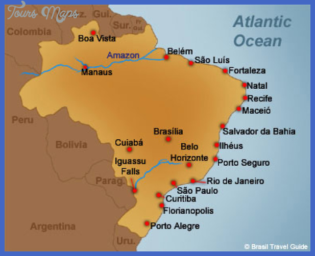 Brazil Map Tourist Attractions ToursMapsCom – Brazil Tourist Attractions Map