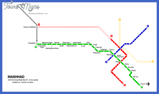 mashhad metro map Iran Metro Map
