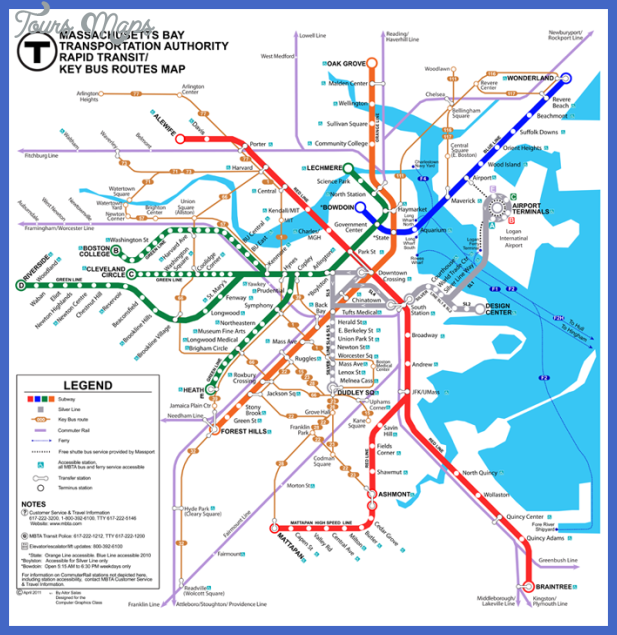 mbtacapture Boston Metro Map