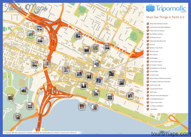 Melbourne Map Tourist Attractions ToursMapsCom – Melbourne Map For Tourist