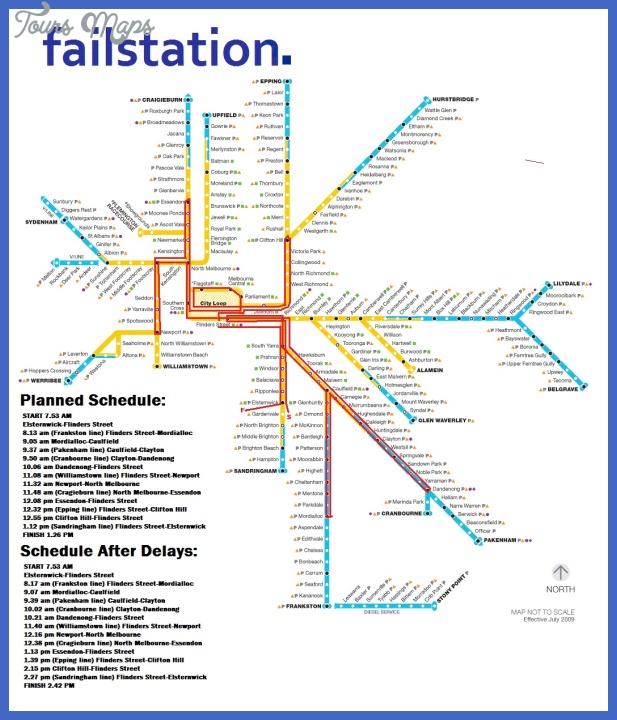 melbourne subway map 0 Melbourne Subway Map