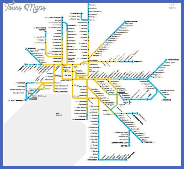 melbourne subway map 1 Melbourne Subway Map