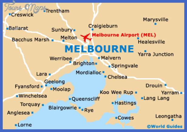 melbourne map city Melbourne Map