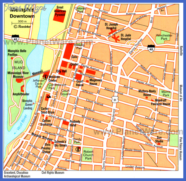 Memphis Map Tourist Attractions ToursMapsCom – Tourist Attractions Map In Memphis