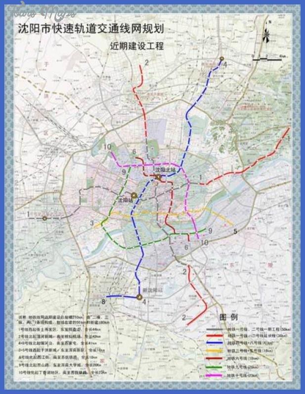 metro map shenyang cn Shenyang Metro Map