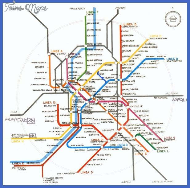 metro roma Rome Subway Map