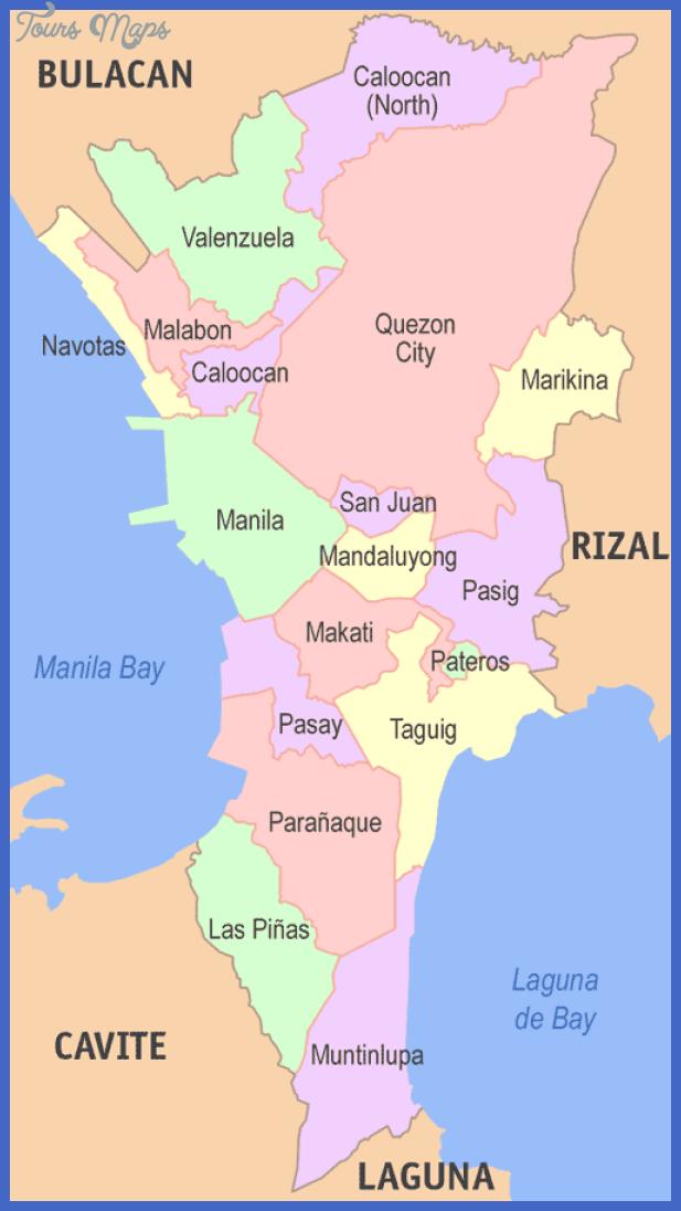 metro manila map Manila Map