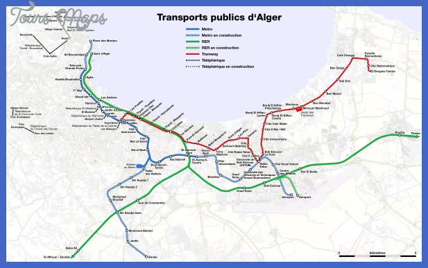 metro suburban train and tramway map of algiers Algeria Metro Map