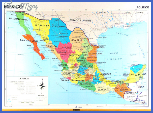 Mexico map overview