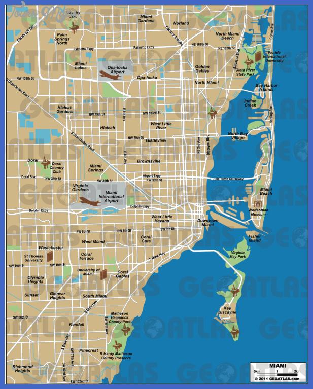 miami 1 Miami Map