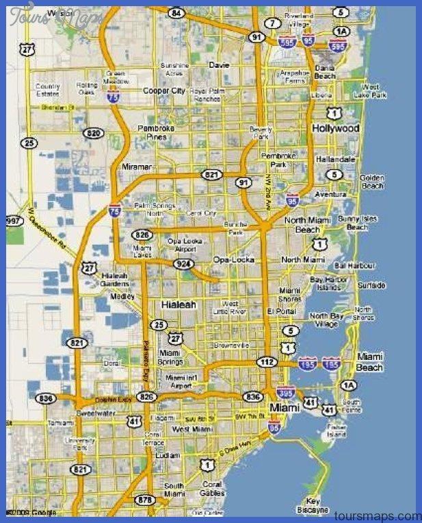 Hialeah Map Tourist Attractions ToursMapscom
