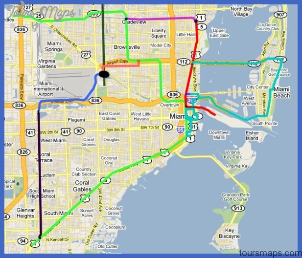 Miami Metrorail Map