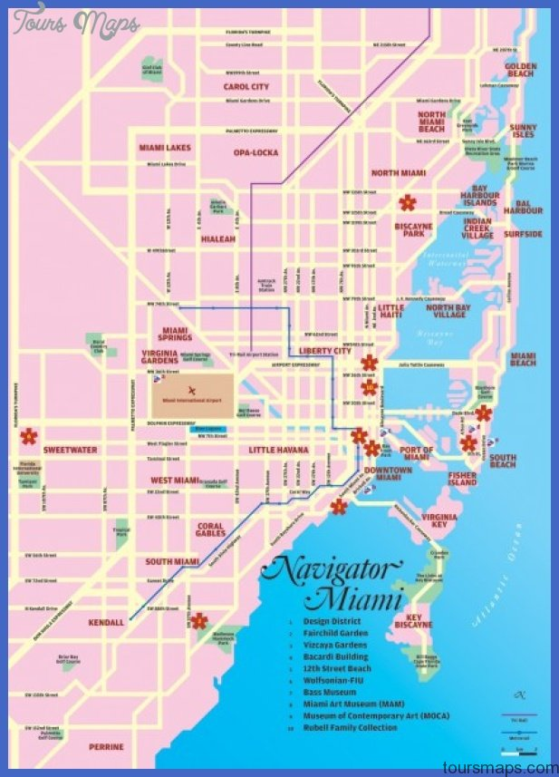 miami tourist map mediumthumb Miami Map