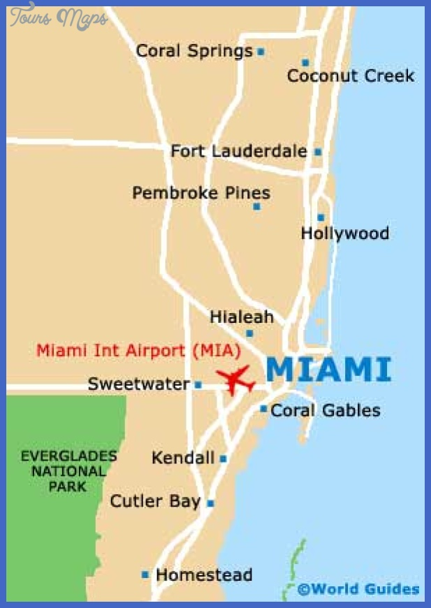 miami map Hialeah Map Tourist Attractions