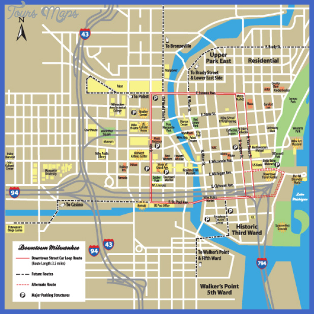Milwaukee Map Tourist Attractions ToursMapsCom – Tourist Attractions Map In Milwaukee