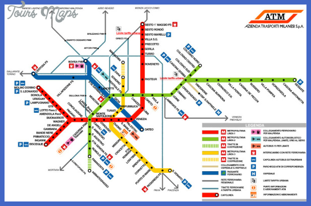 milan metro map1 Milan Subway Map