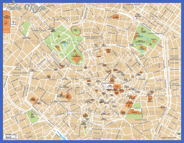 milano Milan Map