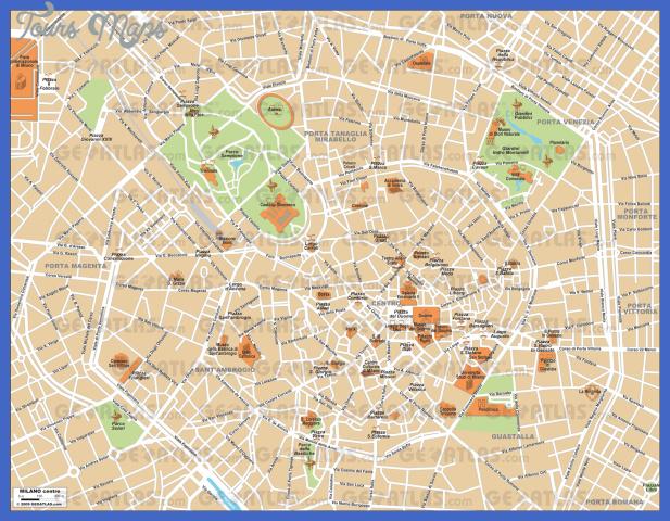 milano Milan Map