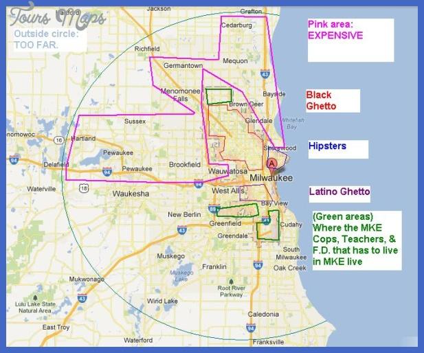 milwaukee metro map 1 Milwaukee Metro Map