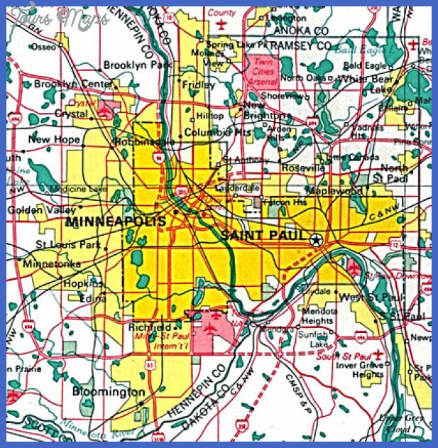 minneapolis map Minneapolis Map