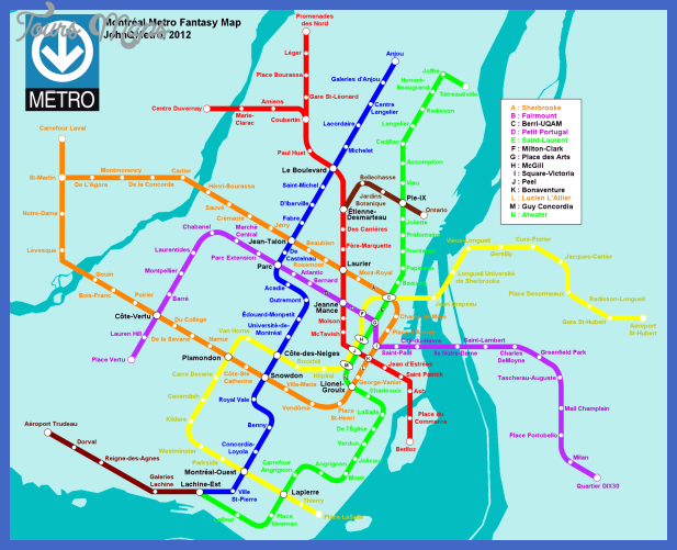 montreal metro c 1 Canada Metro Map