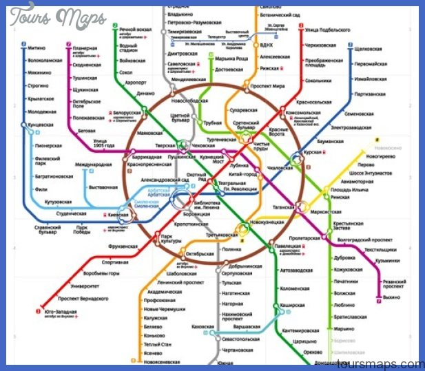 moscow metro map 1 Moscow Metro Map