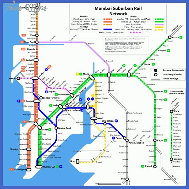 mumbai metro map  1 Mumbai Metro Map